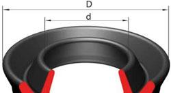 Схема резиновых манжет ГОСТ 14896-84 с указанием замера диаметров